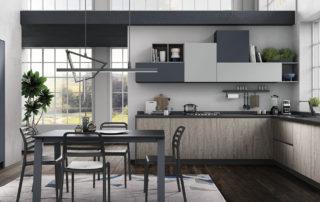 06 cucina ergonomica hilary rovere grigio madreperla blue